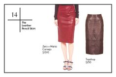 Leather Pencil skirt- Wrap Up In 30 Winter-Wardrobe Essentials #refinery29
