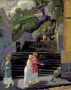John French Sloan (1871-1951)  'Town Steps, Gloucester', 1916