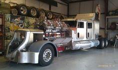 Cool Semi Trucks | Triple engine, six superchargers, on four door semi truck!!!