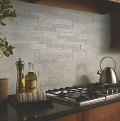 Jaw-Dropping: Unique Kitchen Tile Ideas You'll Want For Your Home: Idea: Gray Slate Tile Create a Modern Kitchen Look