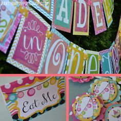 Wonderland Birthday Party Decorations Package