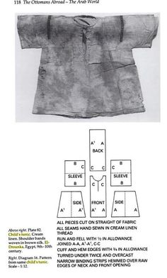 Child's Tunic with redrawing of pattern.