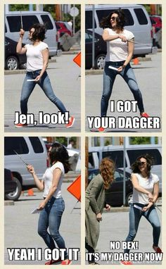 Awesome Lana (and Rebecca Bex) (Regina) (and Zelena) Lana/Regina waving the…