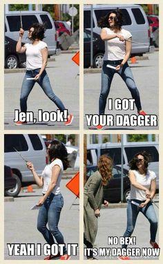 Awesome Lana (and Rebecca Bex) (Regina) (and Zelena) Lana/Regina waving the…