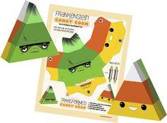 Frankenstein candy corn papercraft