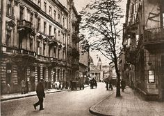 Warsaw Mokotowska street towards to Three Crosses Square Interwar Period, White City, Architecture Old, Old Photos, Spain, Street View, World, Places, Lost