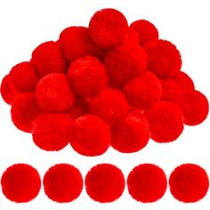 Option for Large Red Pom-Poms; week 4 Halloween Clown, Halloween Party Costumes, Halloween Crafts, Red Pom Poms, Tissue Pom Poms, Flamingo Party Supplies, Pom Pom Tutorial, Halloween Costume Accessories, Tropical Party