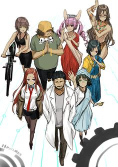 Tags: Steins;Gate, Makise Kurisu, Okabe Rintarou, Rumiho Akiha, Amane Suzuha, Urushibara Ruka, Kiryu Moeka, Shiina Mayuri, Hashida Itaru, 5p...