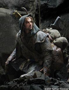 Aidan Turner as Kili the hottest dwarf ever. Pic from EW sans a few dwarves. www.facebook.com/Forever.Aidan.Turner