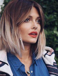 Short ombre hair – Hair is Art Haircuts For Medium Hair, Short Hair With Bangs, Long Bob Hairstyles, Summer Hairstyles, Short Hair Cuts, Short Hair Styles, Bob Haircuts, Hairstyle Short, 2018 Haircuts