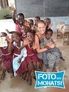 Dominika war mit uns in #Ghana und hat sich dort in einem Sozialarbeitsprojekt engagiert. Von ihr kommt dieses süße Bild. :-) Bild des Monats April