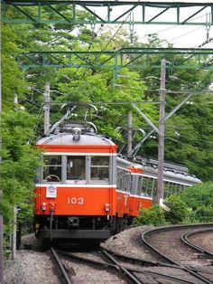Hakone mountain railway, Kanagawa, Japan 箱根登山鉄道