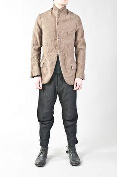 Paul Harnden - heavy linen & wool pocket blazer