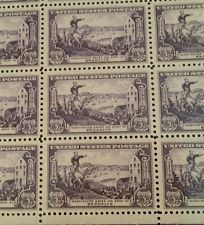 U.S. POSTAGE STAMPS SHEET 1951 WASHINGTON ARMY BROOKLYN 50 X .03 FV 1.50