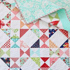 It's the last day of the 30% off . This is my Snippets quilt made with charm squares including Hello Darling
