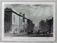 Newgate prison and the Old Bailey, engraved by Robert Acon, 1831 (engraving) Wall Art & Canvas Prints by Thomas Hosmer Shepherd