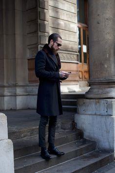 beard and coat
