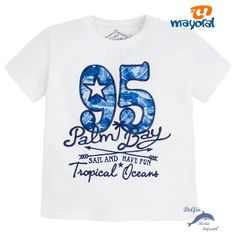 "Camiseta niño MAYORAL manga corta ""95"" blanca"