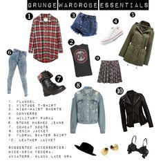 """""""Grunge Wardrobe Essentials"""" by sauts on Polyvore"""