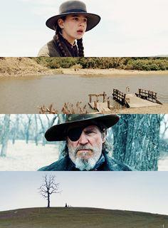"""True Grit"" Jeff Bridges,Matt Damon, Josh Brolin and Hailee Steinfeld Music Film, Film Movie, True Grit Movie, Roger Deakins, Light Film, Movie Shots, Beautiful Film, The Big Lebowski, Western Movies"