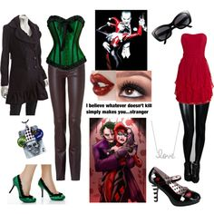 The Joker and Harley Quinn, created by rubylebeau on Polyvore