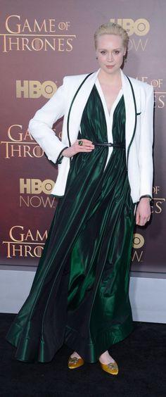 Gwendoline Christie at the Game of Thrones Season 5 premiere