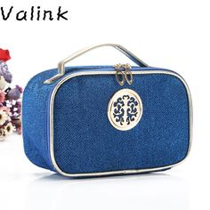Valink 2017 Brand New Female Quilted Professional Cosmetic Bag Women's Large Capacity Storage Makeup Bag Organizer Neceser Sac