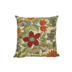Target Home Woven Floral Toss Pillow Multicolor (20x20