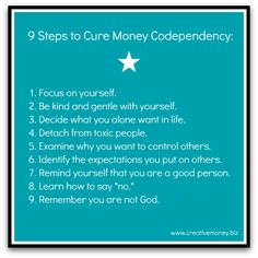 Nine Steps to Cure Your Codependent Money Behavior ...
