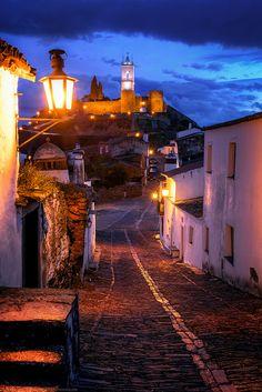 Blue Hour in Monsaraz Walled Castle Town, Alentejo, Portugal Visit Portugal, Portugal Travel, Algarve, Cool Places To Visit, Places To Travel, Travel Destinations, Blue Hour, Exotic Places, Famous Places
