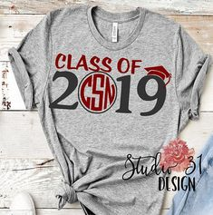 4d5962056 Senior shirt, Senior 2019 Shirt, Graduation Short Sleeve Shirt, Preppy Grad  Cap, Class of 2019 shirt
