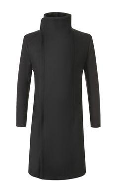 Шерстяное пальто на молнии с воротником-стойкой Overcome, черного цвета, арт. 0C09U571/FC32/PP в ЦУМ | Фото №1