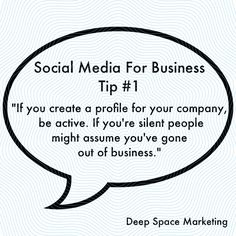Social Media Tips by Deep Space Marketing.