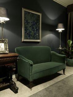 Gentlemen | Bedroom | Green Velvet | Green Couch | Navy | Apartment | Interior design | Etienne Hanekom Interiors