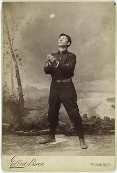 Unknown baseball player, 1800s. (New York Public Library)