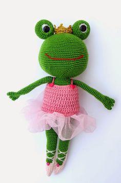 Crochet Frog, Kawaii Crochet, Cute Crochet, Crochet Crafts, Crochet Dolls, Crochet Yarn, Yarn Crafts, Crochet Projects, Amigurumi Patterns