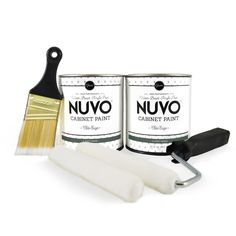 Nuvo Coconut Espresso Cabinet Makeover Paint Kit - Walmart.com - Walmart.com Nuvo Cabinet Paint, Cabinet Paint Colors, Painting Countertops, Painting Cabinets, Green Color Names, Grey Interior Paint, Interior Design, Blue Cabinets, Kitchen Cabinets