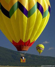 Hot air balloon - like pattern to turn yellow lantern into balloon with ribbon and red tissue