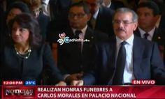 Realizan Honras Funebres A Carlos Morales En Palacio Nacional #Video