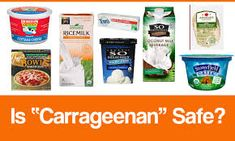 Carrageenan added with the frozen pizzas. To get more information http://www.foodsciencematters.com/carrageenan/