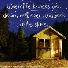 When life knocks you down, roll over and look at the stars ;-)