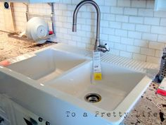 IKEA farmhouse kitchen sink. Nearly big enough to bathe in!