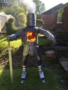 Saint George Knights Templar Log Wood Burner Gas Bottle Chimenea Statue