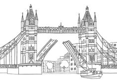 Pin for Later: 50 Printable Adult Coloring Pages That Will Make You Feel Like a Kid Again  Get the coloring page: London Bridge