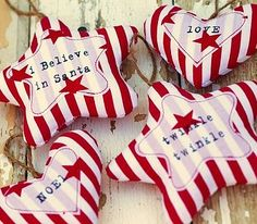 Candy Stripe Ornaments