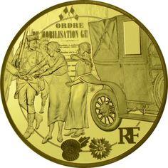 200 Euro Gold Franzosen während des 1. Weltkriegs PP