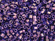 TOHO Bead Hex 8/0 Higher-Metallic Royal Purple