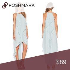NWT Blue chiffon asymmetrical maxi ruffle dress ➖NWT ➖SIZE: Small, Medium, Large ❌NO TRADE Dresses Maxi