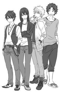 Takasugi & Katsura & Gin & Sakamoto of course! ^_^