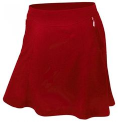 If you're in the market for some new outfits, consider our women's apparel! Shop this comfortable and stylish Red Monterey Club Ladies & Plus Size Betty Fun Pull On Golf Skort from Lori's Golf Shoppe.